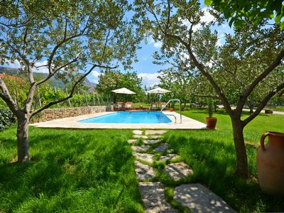 Photo for Newly renovated charming farmhouse with pool by the sea