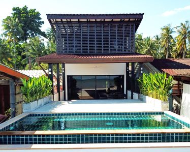 Photo for Ocean front villa with Private infinity pool & AC