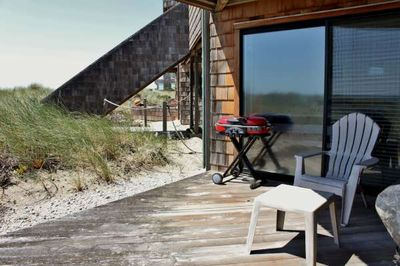 Deck with direct beach access