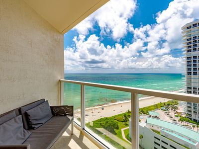 Photo for SUPER, SPECTACULAR OCEAN VIEWS! MODERN DECOR, TRUE MIAMI VIBES! GREAT LOCATION!