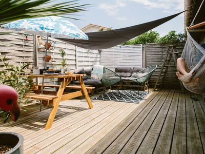 Photo for LOFT + TERRASSE cozy and deco, just behind the dune in Seignosse!