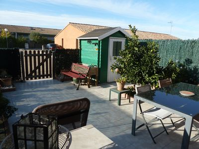 Photo for Quiet villa with beautiful terrace, secure subdivision, 1 private parking