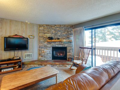 Photo for Dog-friendly w/ a shared pool & hot tub, gas fireplace & grill