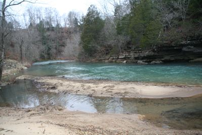 Winter time view of the Wolf River
