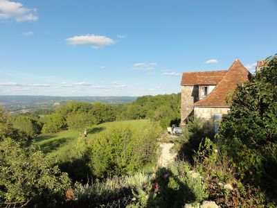 View of the house from the sheep lane to the West with the Dordogne River below