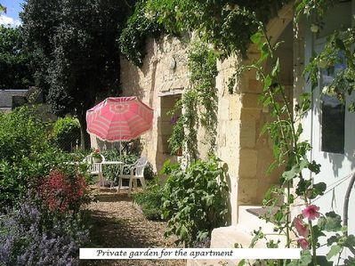 Secluded patio garden for your use