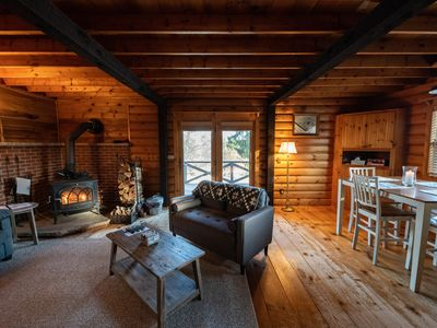 Photo for 5 Miles from Elk Mountain Ski Resort. Stunning Rustic Cabin on 21 Acres
