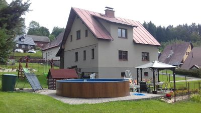Photo for Holiday apartment with outdoor swimming pool in the well-known ski resort