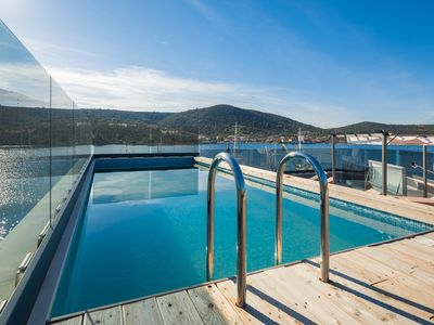 Photo for Beachront Luxury Villa w/rooftop pool, gym + spa Only 20 Min. From Split Airport