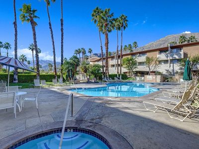 Photo for Updated and beautifully furnished Biarritz Condo in Downtown Palm Springs + Mountain Views!