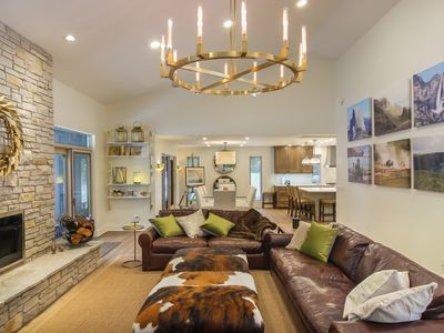 Photo for Sprawling 5 bedroom family get away with sandy beach on Lake Michigan