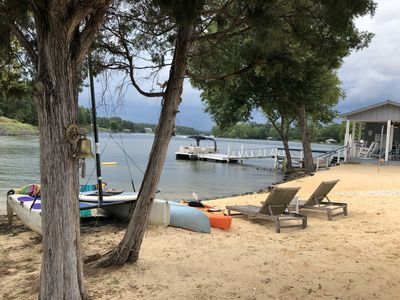Private STAYCATIONS Special LUX 5 BR Isle Lake Panoramic Priv Beach Boat Rental