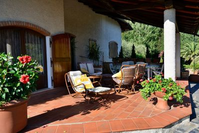 the front patio