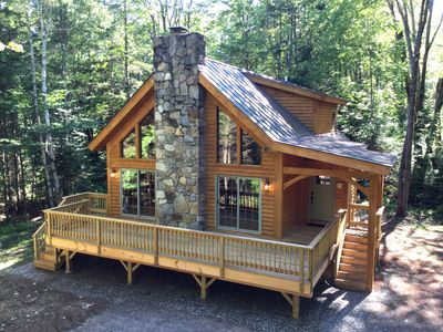 Photo for Luxury Log Cabin in Beautiful Weston, VT