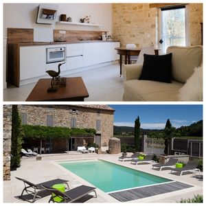 Photo for Cottage with pool for 2 to 3 people in the Gard between Uzès and Avignon