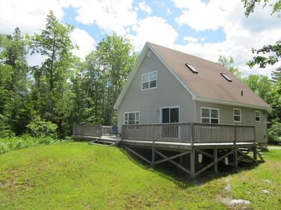 Enjoy barbecuing on the deck at River's End Cottage