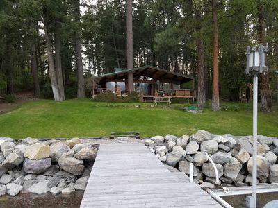 Come stay in the Forrest 40ft from the Lake!!!