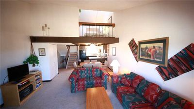 Photo for Fabulous condo with loft that sleeps two, two patios, and a wood-burning fireplace