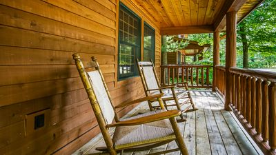 Photo for Log Cabin on Lake w/ Hot Tub and Pool Access