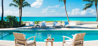 Photo for Coral House w/ Chef -  Beach Front - Located in  Beautiful Grace Bay with Private Pool