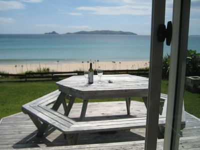 Photo for Comfortable beachfront house at Taupo Bay.