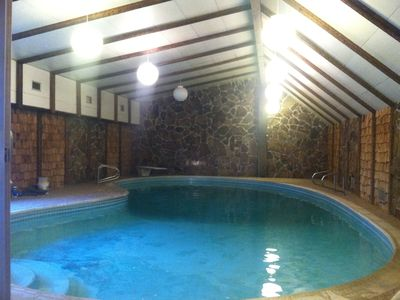 Photo for 4000 Sq ft home w/ private heated indoor pool with turbo twist slide!