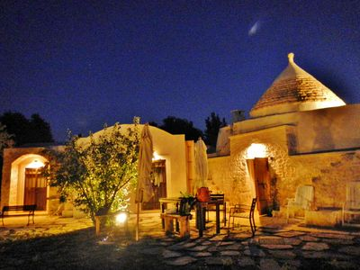 Photo for Trullo of Fairies, magic traditional residence with sea view, large garden. Ostuni