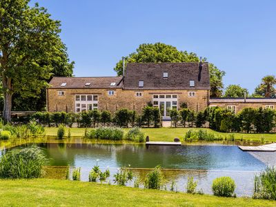 Photo for Luxury barn conversion on rural Cotswolds farm with swimming pond