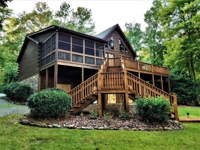 Photo for Deep Water Log Cabin 1 Mile From Eatons Ferry Bridge - Sleeps 16!