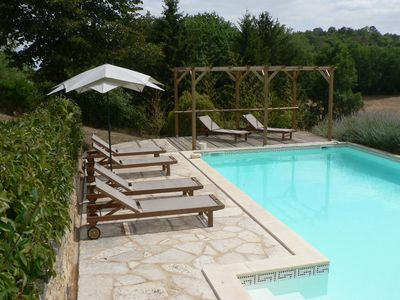 Private Pool area and the wonderful views of the countryside - peaceful