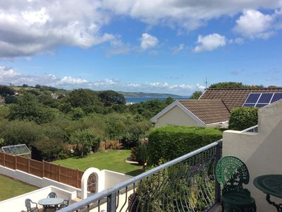 Photo for Visit Wales 4*+. Sea views, quite location, 15mins walk to Saundersfoot & beach