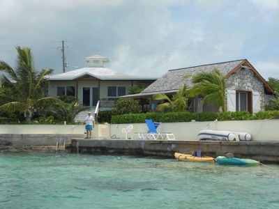 Beach House and Boat House. The Dock Master is waiting for you to come ashore.