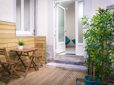 Photo for Studio 1 completely renovated, cozy, on the ground floor with its private patio, classified 3 *