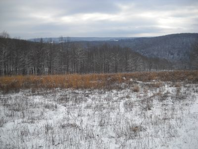 Winter view from the top of our field.