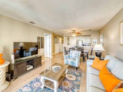Photo for Ocean view villa at beachfront complex w/ pool - walk to golf, dining & more!