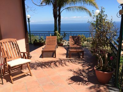 Photo for CASA LILI with Sea ViewTerrace + Private  Garden Taormina