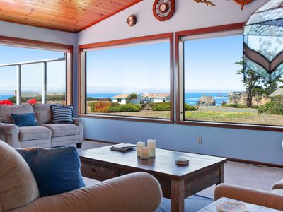 Photo for Open-floor-plan home w/ gorgeous ocean views & private beach access - dogs OK!