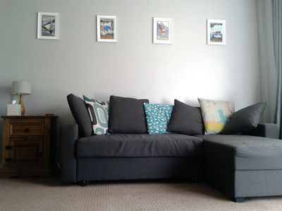 Living room - the sofa turns into a double sofa bed