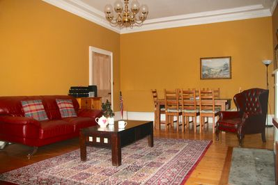 Drawing Room with 8 seater Dining Table