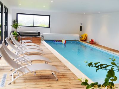 Photo for Private indoor pool not overlooked heated to 30 ° C all year round + Jacuzzi