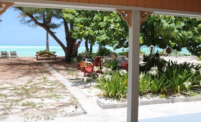 Photo for Paradise Beach Cottage, Pink Sands, Crystal Clear Water w/ Kayaks and Golf Cart