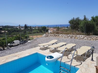 Photo for POOL HOUSE WITH FANTASTIC VIEW OVER THE SEA AND THE MOUNTAINS WITH ROOFTERRACE.