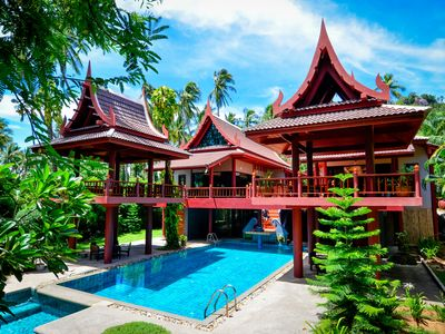Photo for Samui Seaview Villa - 6 bedroom villa on Laem Set beach