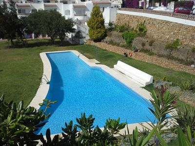 Photo for Nice and fresh terraced house in a quiet area near the beach and golf