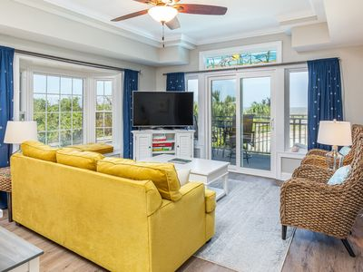 Waterfront Condo with Sunset Views of the Savannah River and Community Pool with Elevator
