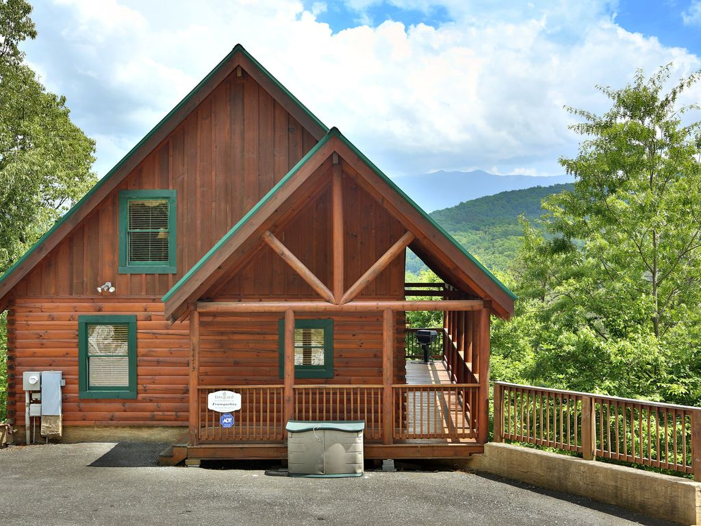 Cabin exterior view from the parking area. Tranquility a two bedroom cabin located min      VRBO