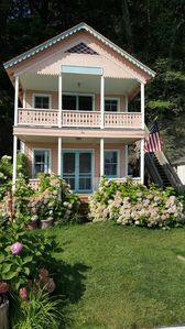 Photo for Charming Cayuga Lake Cottage at water's edge