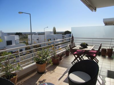 Photo for Luxurious & spacious top floor Apartment with large sun terraces & sea views