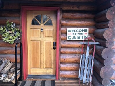 Welcome front door with key less entry