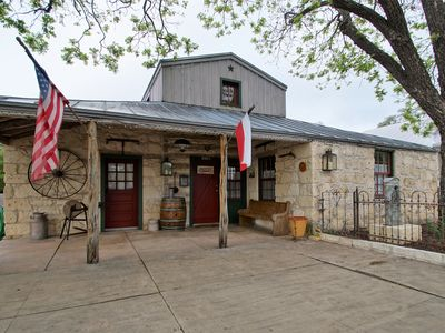 Photo for 1 Blk From Main St., Cozy Log Cabin, Early Fredericksburg, Continental Breakfast